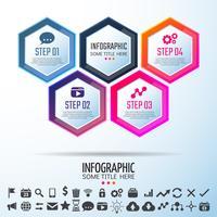 Modello di progettazione infografica vettore