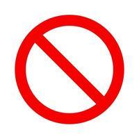 nessun simbolo. segnale di divieto. icona non consentita. cerchio con barra rovesciata vettore