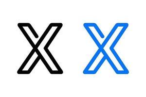 schema lettera x disegno astratto vettore