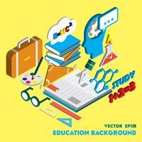 illustrazione del concetto di set di educazione grafica informazioni