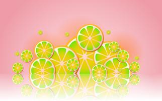 limonata Sfondo vettoriale