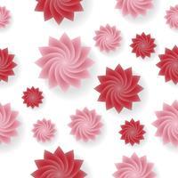 Priorità bassa di vettore del reticolo di fiore senza giunte