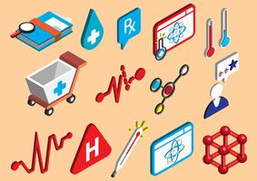 l'illustrazione delle icone dell'ospedale grafico di informazioni ha fissato il concetto