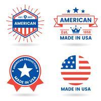 etichetta vettoriale america per banner