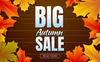 autunno vendita modello banner Vector sfondo