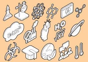l'illustrazione delle icone di scienza grafica di informazioni ha fissato il concetto