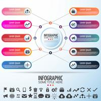 Modello di disegno di Infographics del cerchio