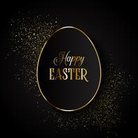 Elegante sfondo di Pasqua con forma di uovo su glitter