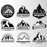 modello di progettazione etichetta di montagna