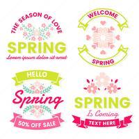 Etichetta vettoriale retrò vintage primavera
