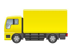 Illustrazione di camion isolato su uno sfondo bianco. vettore