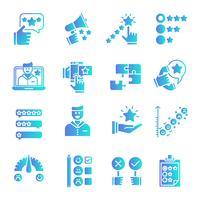 Set di icone del gradiente di feedback