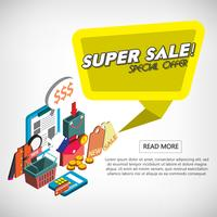 illustrazione del concetto di set shopping online grafico informazioni