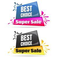 Modello di progettazione di banner di vendita vettore