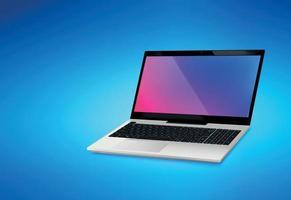 sfondo realistico mockup di laptop vettore