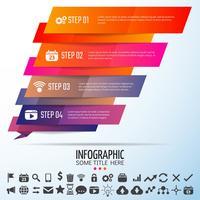 Modello di disegno geometrico infografica vettore