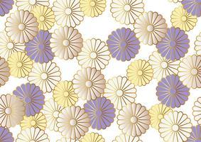 Modello di crisantemo senza soluzione di continuità in stile tradizionale giapponese. vettore