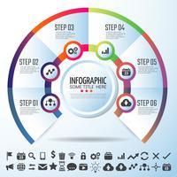 Modello di disegno di Infographics del cerchio vettore