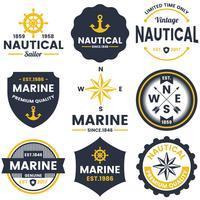 Logo vettoriale retrò nautico per banner