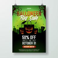 Illustrazione di volantino di vendita di Halloween