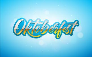 Illustrazione banner Oktoberfest vettore