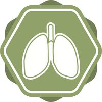 Polmoni riempito icona