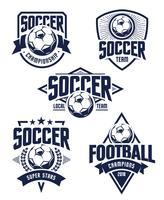 Emblemi di calcio vettoriale