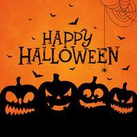 Illustrazione felice della bandiera di Halloween