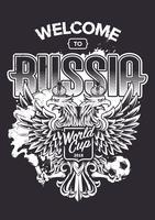 Benvenuti in Russia Art vettore