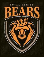 orso emblema mascotte design