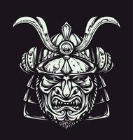Maschera di Samurai vettoriale