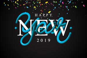 Illustrazione di felice anno nuovo vettore