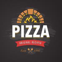 emblema di vettore di pizza