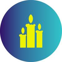 icona di candele vettoriali