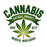 Emblema di vettore di cannabis