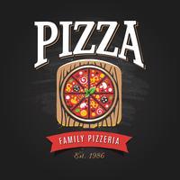 modello di logo pizzeria vettore