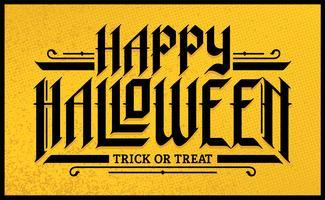 Iscrizione gotica disegnata a mano di Halloween