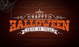 Felice illustrazione vettoriale di Halloween