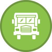 Glifo scuola bus multi colore sfondo icona vettore