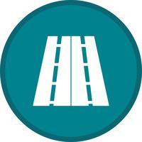 Icona bidirezionale della priorità bassa della strada vettore