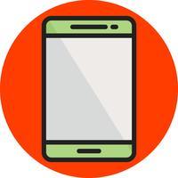 Linea telefonica mobile riempita vettore