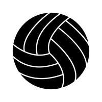 Icona del glifo palla nera vettore