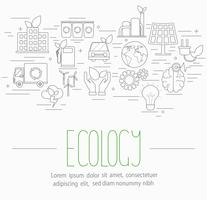 set di simboli di ecologia vettore