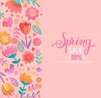 Banner di vendita di primavera. vettore
