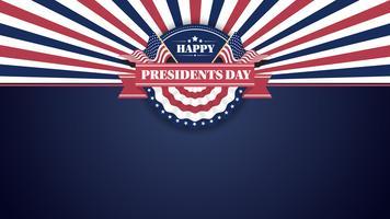 Happy Presidents Day Banner sfondo e cartoline d'auguri. Illustrazione vettoriale