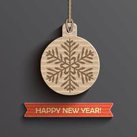 Carta di Capodanno vettore