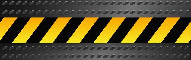 Segnali di pericolo vettoriale e nastri.