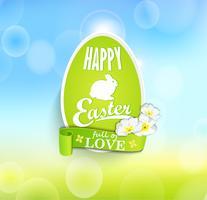 Uova di Pasqua con nastro.