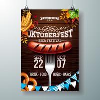 Illustrazione di poster Oktoberfest vettore