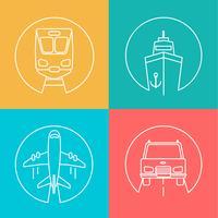 Set di logo di consegna.